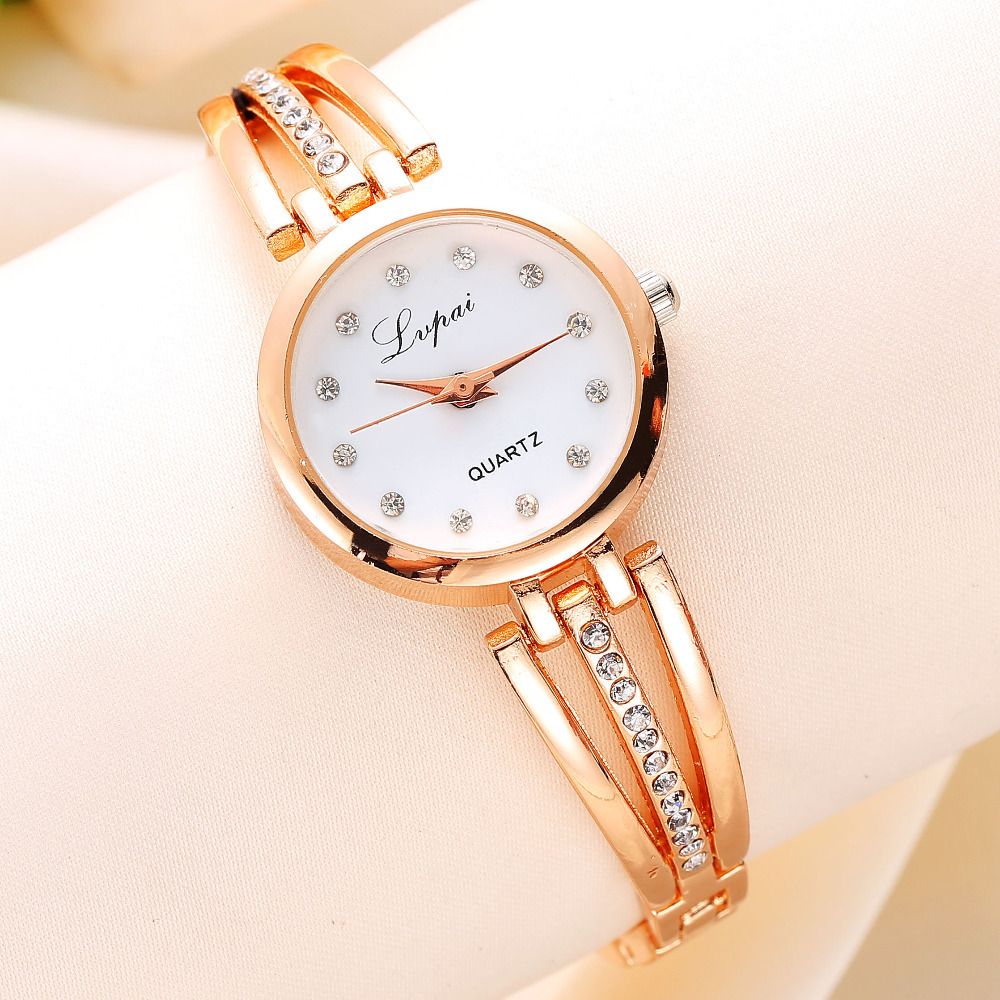 New Lvpai Fashion 2017 Luxury Rhinestone Watches Women Stainless Steel Quartz Watch For Ladies Dress Watch Gold Bracelet Clock купить