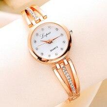 New Lvpai Fashion 2017 Luxury Rhinestone Watches Women's Watch Ladies Watch Gold Quartz Watch Stainless Steel Wrist Watch