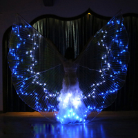 Super Belly Dance LED Isis Wings 36 Colors Optional Changeable Stage Performance Dancewear Butterfly Costume Wings