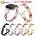 Kristal Metalen Horlogeband Voor Fitbit Blaze smart watch band Polsband Voor Fitbit Blaze armband Met Rhinestone Rvs