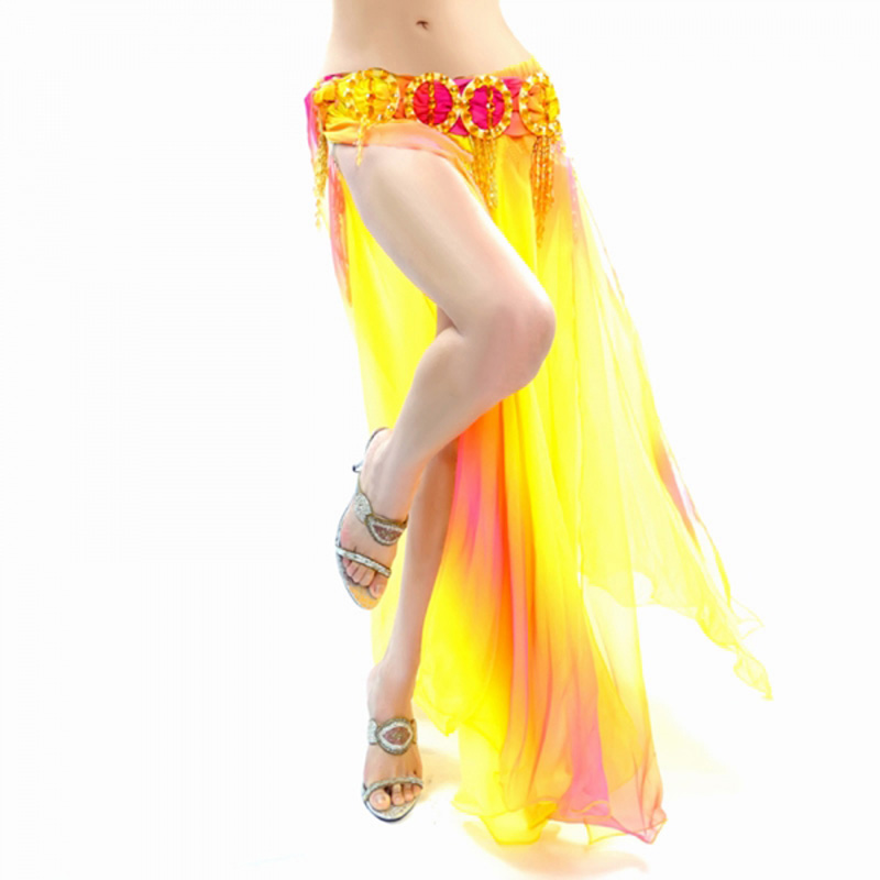 Picture of 2018  Belly Dance Costume Skirt 2 Layers With Slits Skirt Dress 6 Colors New 2018