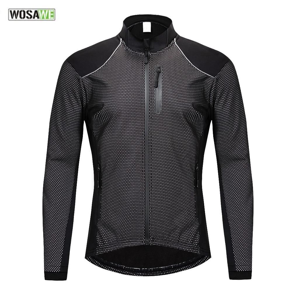 WOSAWE vtt hiver vêtements cyclisme Jersey thermique polaire à manches longues automne hiver Sports réfléchissant vélo veste Motocross
