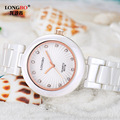Famous Brand For Women Rose Gold Orchid Flower Diamonds White Ceramic Stainless Steel Waterproof Quartz Watches moda mujer Clock