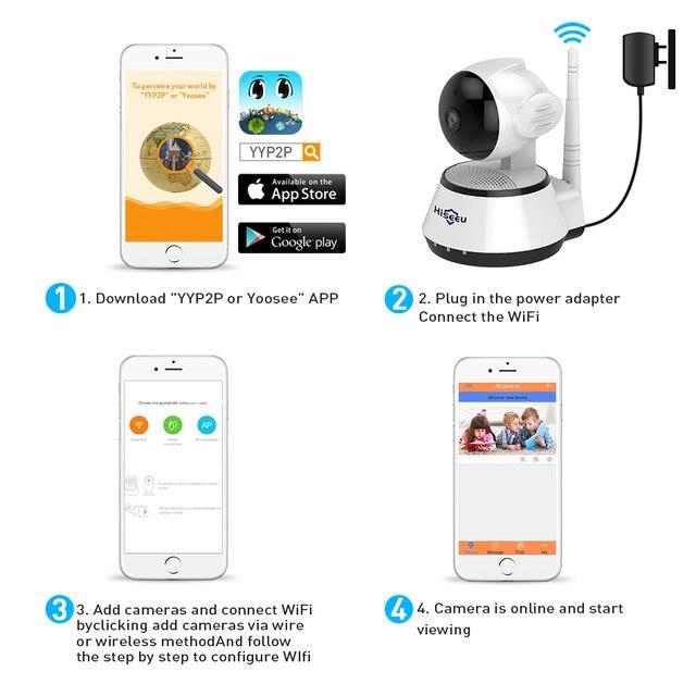 WI-FI Audio Record Surveillance Baby Monitor HD Mini CCTV Camera 4