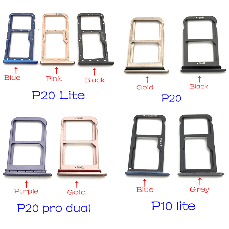 New Micro Nano SIM Card Holder Tray Slot Holder Adapter Socket For Huawei P10 P20 Lite Pro Replacement Parts