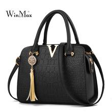 Tassel Crocodile Women Leather Handbags Messenger Bag for Women Bag 2018 Handbag Luxury Ladies Shoulder Bags Female Bolsas Sac