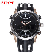 цена на Mens Watches Top Brand Luxury Sport Quartz Dual Display Watch Men Waterproof Alarm Multiple Time Zone Men Military Watch Men New