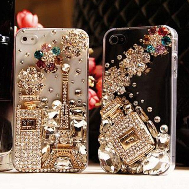 385fafcd4 Diamond Bling Case Capa For Samsung Galaxy Note 8 5 3 4 2 7 S8 Plus S7 S6  edge plus S3 A9 pro C5 Fundas Rhinestone Crystal cover