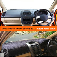 Car dashboard cover for Volkswagen Polo Right hand drive Noble style Auto dashboard Mat for Volkswagen POLO before 2010