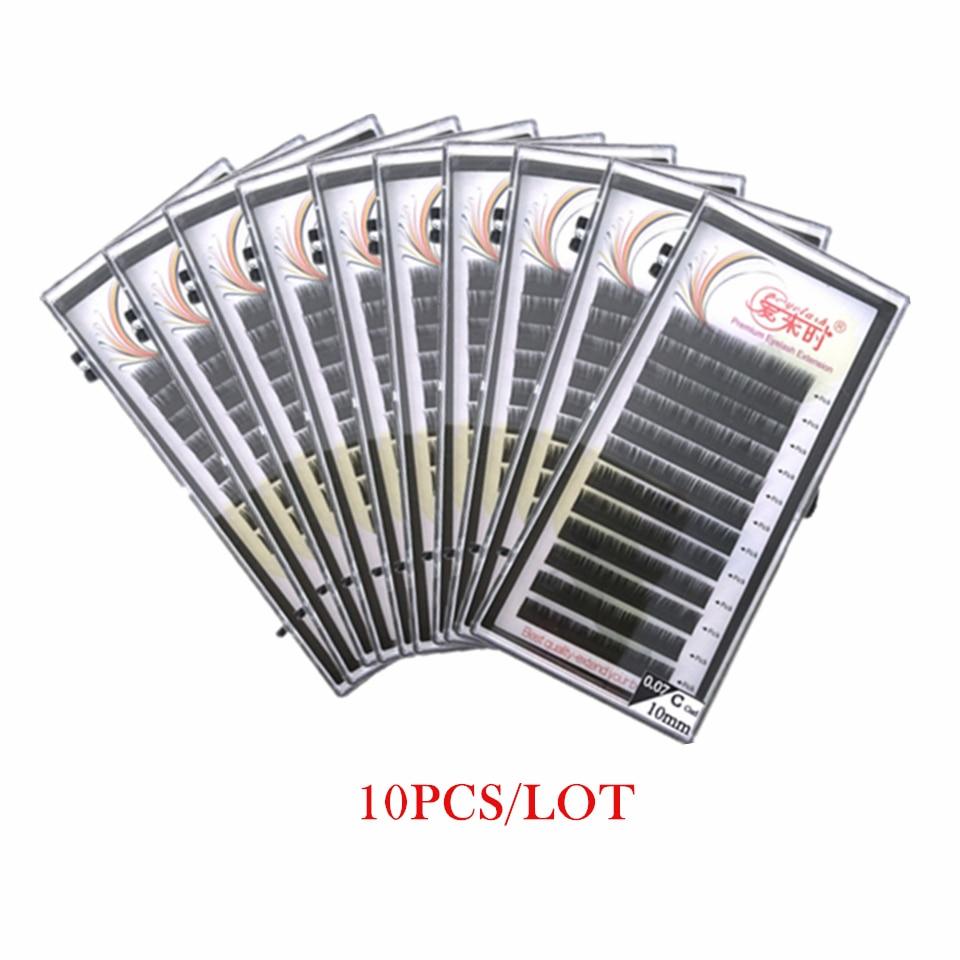 THINKSHOW 10PCS B C CC D Eyelash Extension All Size Natural False Eyelashes 0.03-0.20 Lash Extension Cilia Supplies 8-15mm