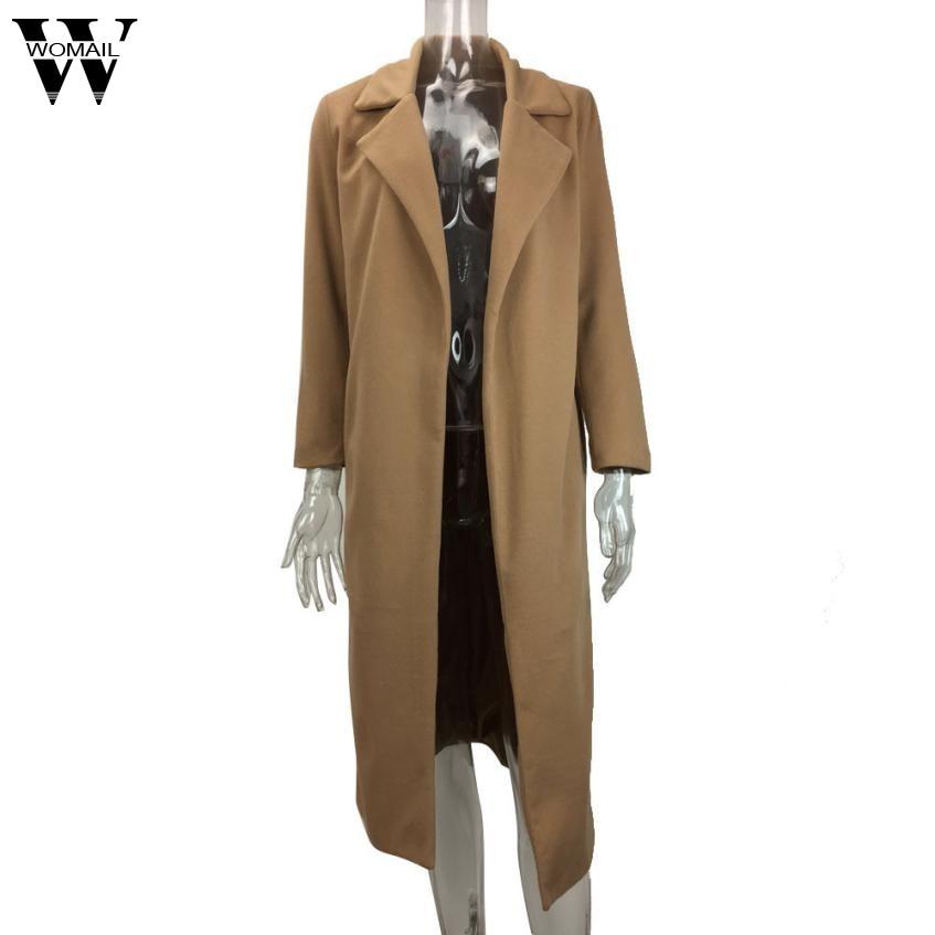 De Manteaux Womail Veste Nov24 Outwear Parka kaki D'hiver Femmes Mode Gris Manteau Chandail Vêtements Pardessus Long Cardigan Revers 2018 qxxnHF41w