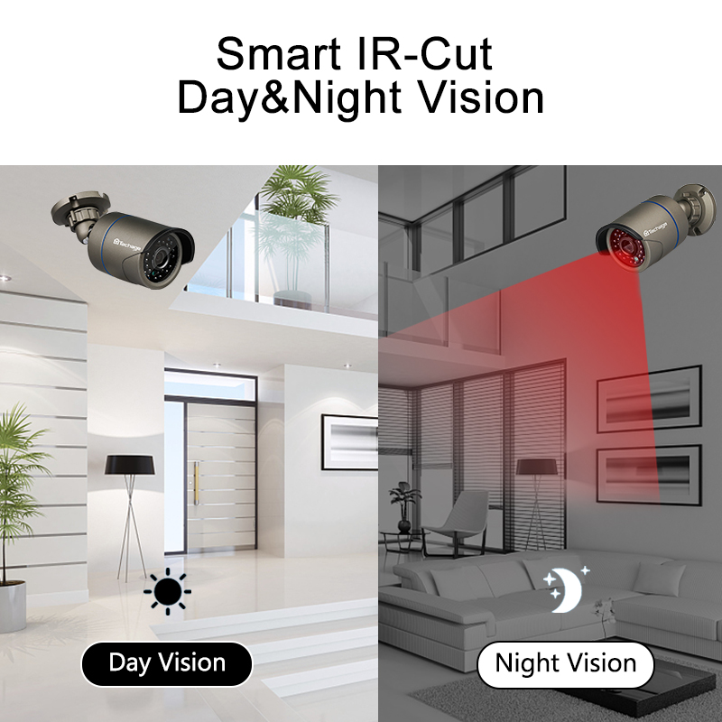 Image 4 - Techage H.265 8CH 1080P HDMI POE NVR Kit CCTV Security System 2MP IR Outdoor Audio Record IP Camera P2P Video Surveillance Set-in Surveillance System from Security & Protection