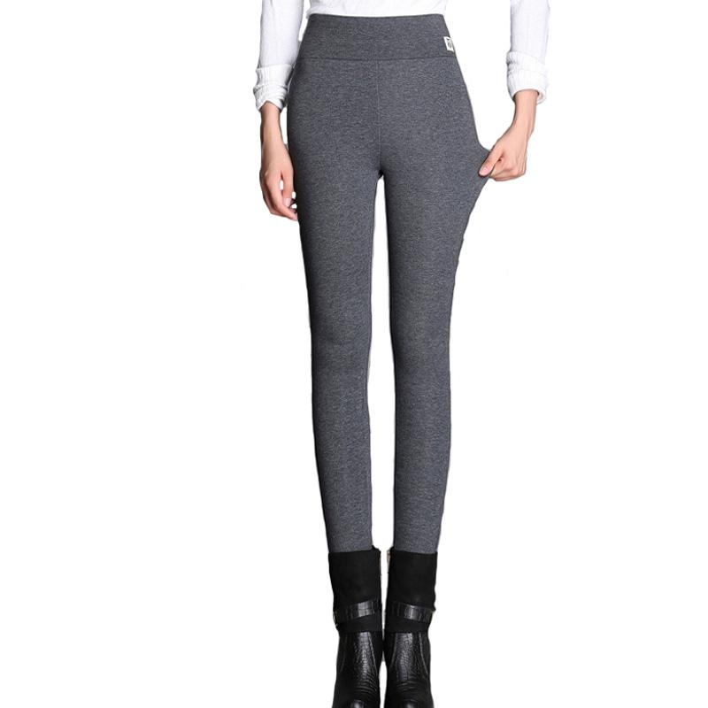 Plus Size Length Women High Waist   Pants   Autumn Spring Pencil Causal Cotton Legging Black   Pant   Gray Trousers Loose   Pants     capris