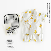 2pcs Baby Sets Suits Infant Kids Baby Cute Monk Long Sleeve Kimono Baby Boy Girl Clothes T-shirt+Cartoon Pants