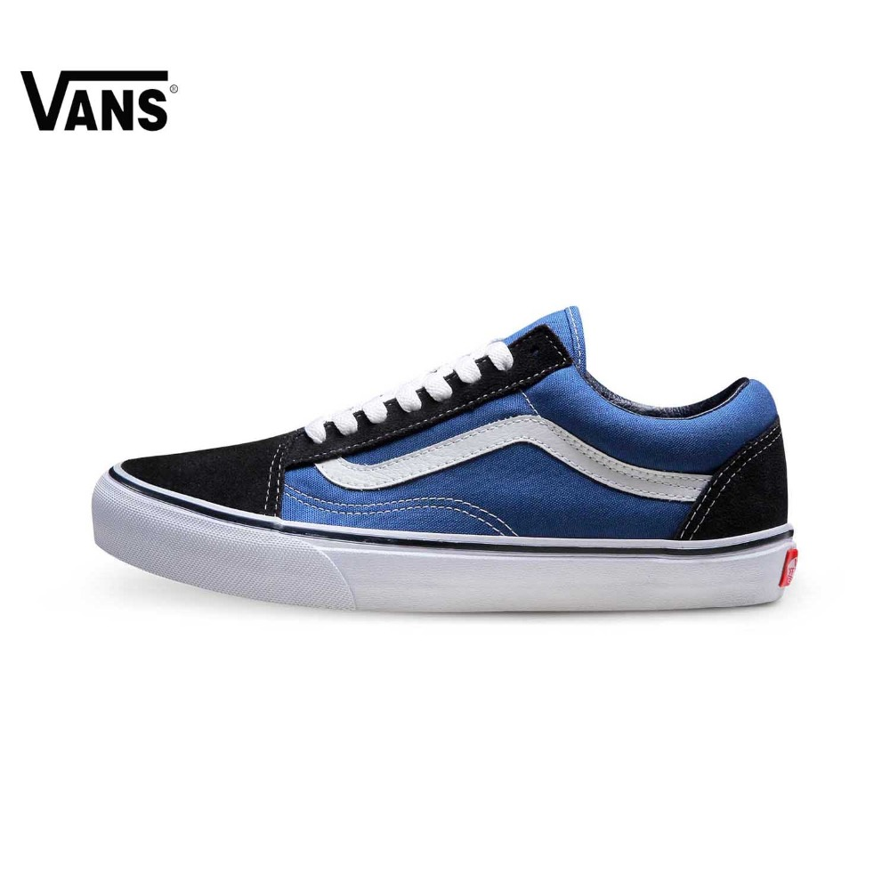 Authentic Hit Color Vans Sneakers Men Skateboarding Shoes Rubber Waffle Outsole Low-top Trainers Genuine Leather Vans Shoes