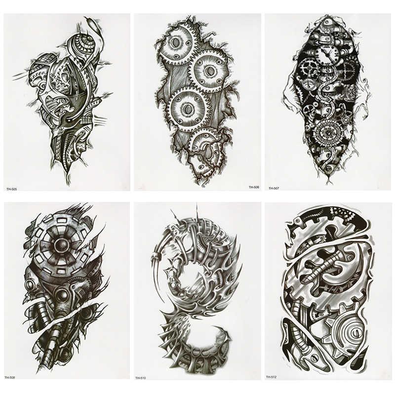 Bionic Mechanical Arm Gear Scorpion Temporary Tattoo Sticker