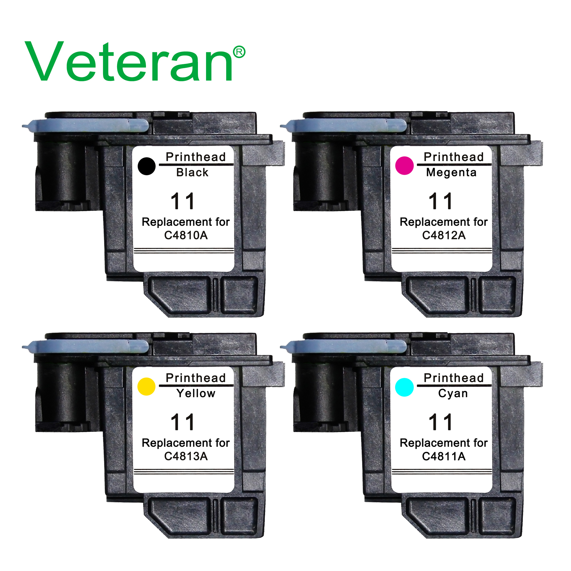 Veteran C4810A C4811A C4812A C4813A For Hp 11 Printhead Hp11 For HP Designjet 70 100 110 111 120 500 510 1100 Printheads Printer(China)