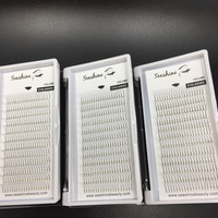 6 trays 2D pre gemaakt fans lash volume wimper C D krul 0.07mm 0.10mm dikte individuele wimper extensions valse wimpers