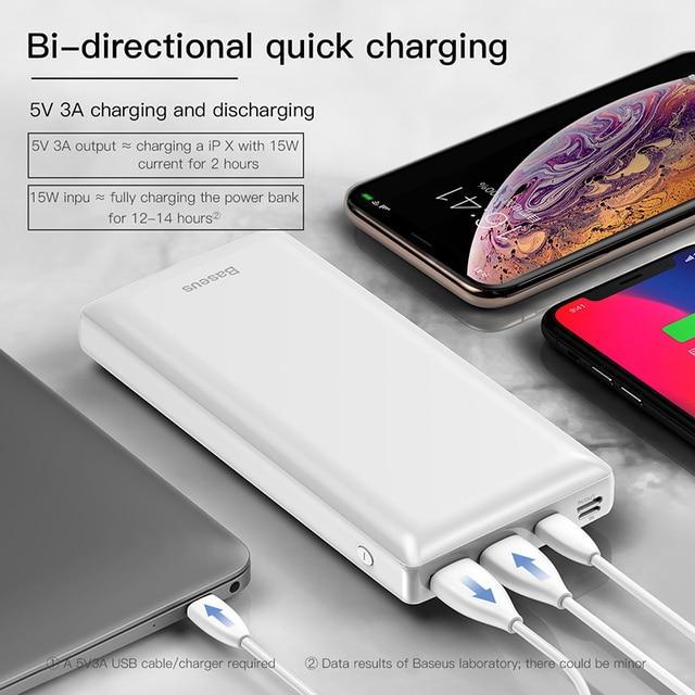 Baseus Power Bank 30000mAh Powerbank USB C Fast Poverbank For Xiaomi iPhone 12 Pro Portable External Battery Charger Pover bank 5