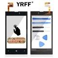 Передняя Дигитайзер Стекла Рамки Дисплея С Сенсорным Экраном Для Nokia Lumia 525 526 Сенсорной Панели Аксессуары С Датчиком Гибкий Кабель и логотип