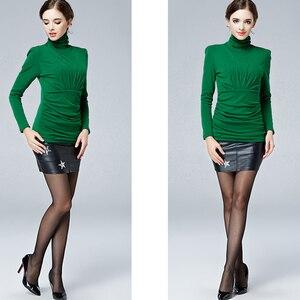 Image 2 - נשים עבה קטיפה באיכות גבוהה נשים אלגנטי אופנה חולצה חולצות סתיו חורף בתוספת גודל חם השפל חולצה Blusas חולצות