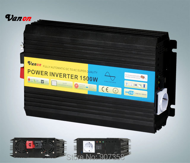 1500W 12VDC to 220VAC off grid solar Inverter Pure Sine Wave Power Inverter with CE, ROHS approved(3000w peak power)
