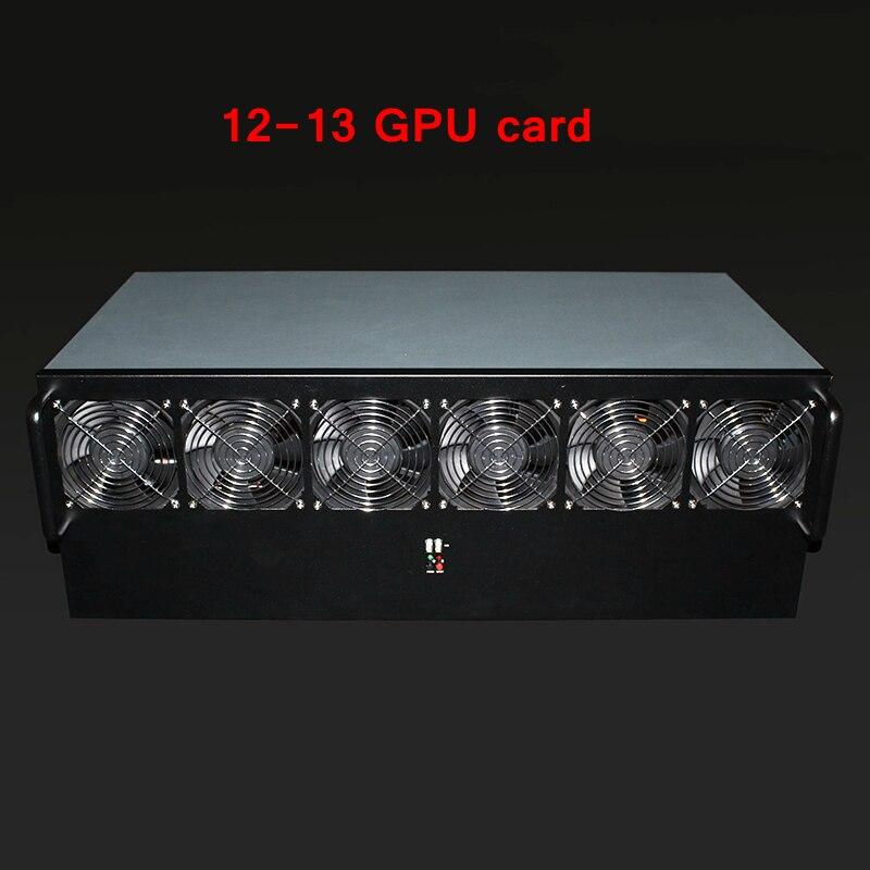Mining 12 O 13 Caso Graphics USB Minatore PC Server Rack Cryptocoin All'aria Aperta Telaio ETH BTC XMR RX 470 480 570 580 GTX1080 GPU Carta