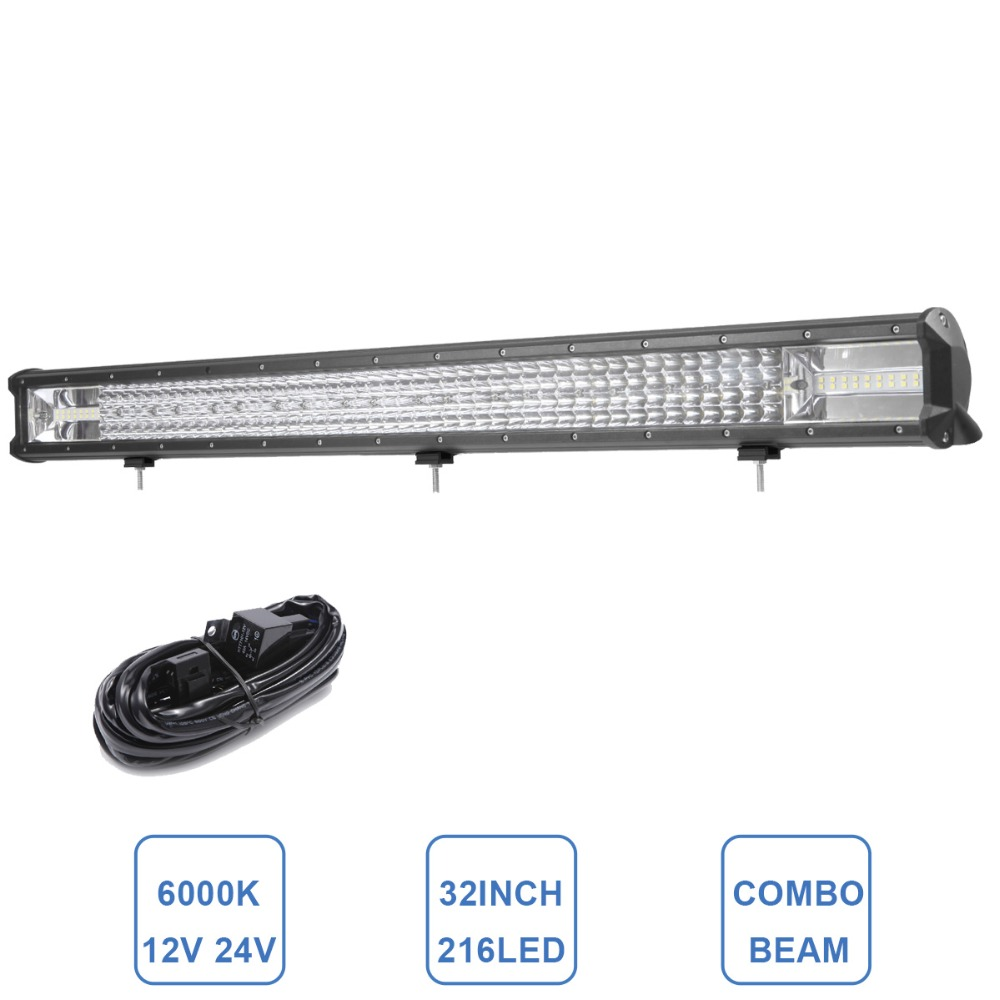 32 INCH OFFROAD LED WORK LIGHT BAR 216W COMBO CAR SUV TRUCK TRAILER WAGON PICKUP ATV AWD 4X4 4WD 12V 24V AUXILIARY DRIVING LAMP часы наручные ingersoll часы in1620bkor коллекция bison