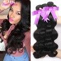Peruvian virgin hair body wave 4 bundles deals peruvian body wave hair 8a grade virgin unprocessed human hair 100g/pc Wavy hair