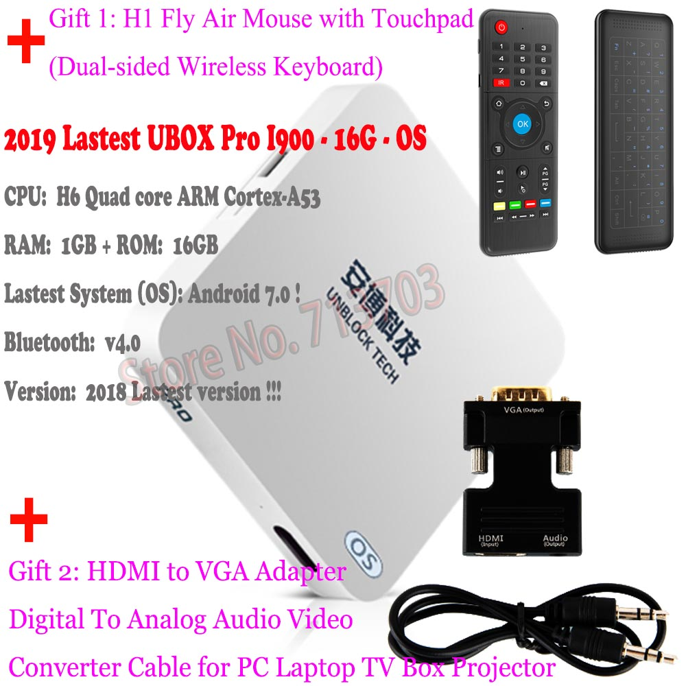 IPTV UNBLOCK UBOX 6 PRO 2 PRO2 I950 16GB Smart Android 7 0 TV Box Mi Box 4K  Japanese Korean Malaysia HK TW Free Live TV Channels