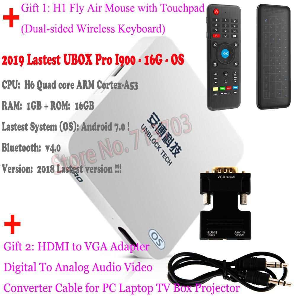 IPTV UNBLOCK UBOX 5 PRO I900 16G OS Smart Android 7 0 TV Box VGA Mi Box 4K  Japanese Korean Malaysia HK TW Free Live TV Channels
