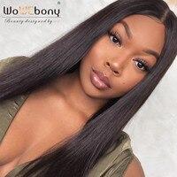 WoWEbony 100% человеческих волос яки текстуры индийские Волосы remy Полное Кружева Парики средней части