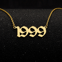 Stainless Steel Old English Number Necklace Special Year 1992-2019 Choker Necklaces Pendents Jewelry Accessories Number Necklace все цены