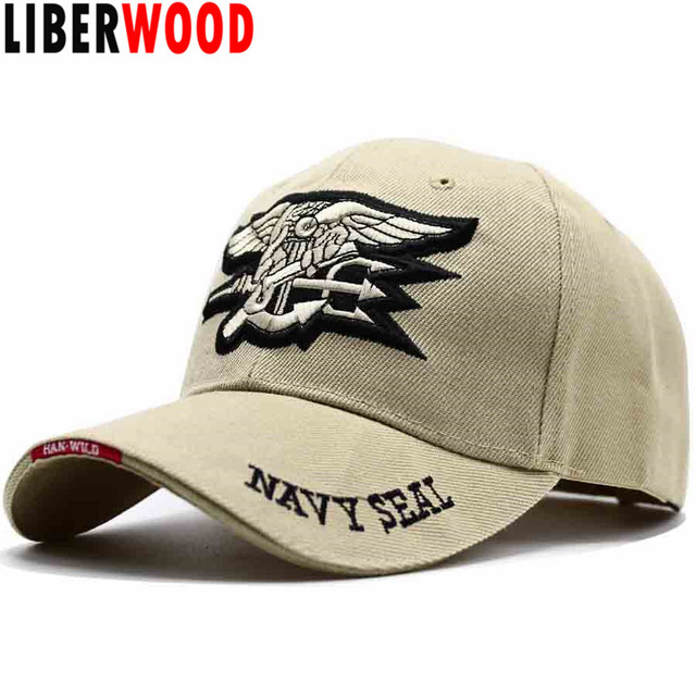 LIBERWOOD Brand High Quality US Navy Embroidered Navy Seal Team Baseball Cap  Police Tactical cap Hat USA Low Profile Cap for Men e57a48ba4919