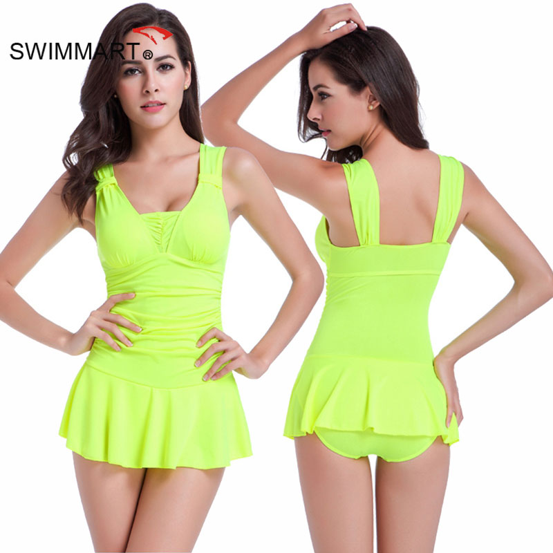 SWIMMART 2017 New Sexy Beach One Piece Swimsuit Women Push Up Halter Solid Color Swimsuit Ladies Swimwear Swimsuit VS013 trendy solid color halter pleated one piece skirt swimwear for women