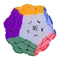 Brand New DaYan Megaminx Dodecahedron Stickerless Velocità Di Puzzle Cube con Angolo Creste Puzzle Cubi Giocattoli per il capretto Bambino