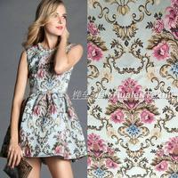 2017 a Europa e os Estados Unidos grande grosso sólidos high-grade fio-tingido jacquard tecidos vestido, DIY manual de casaco de pano 145 cm * 50 cm