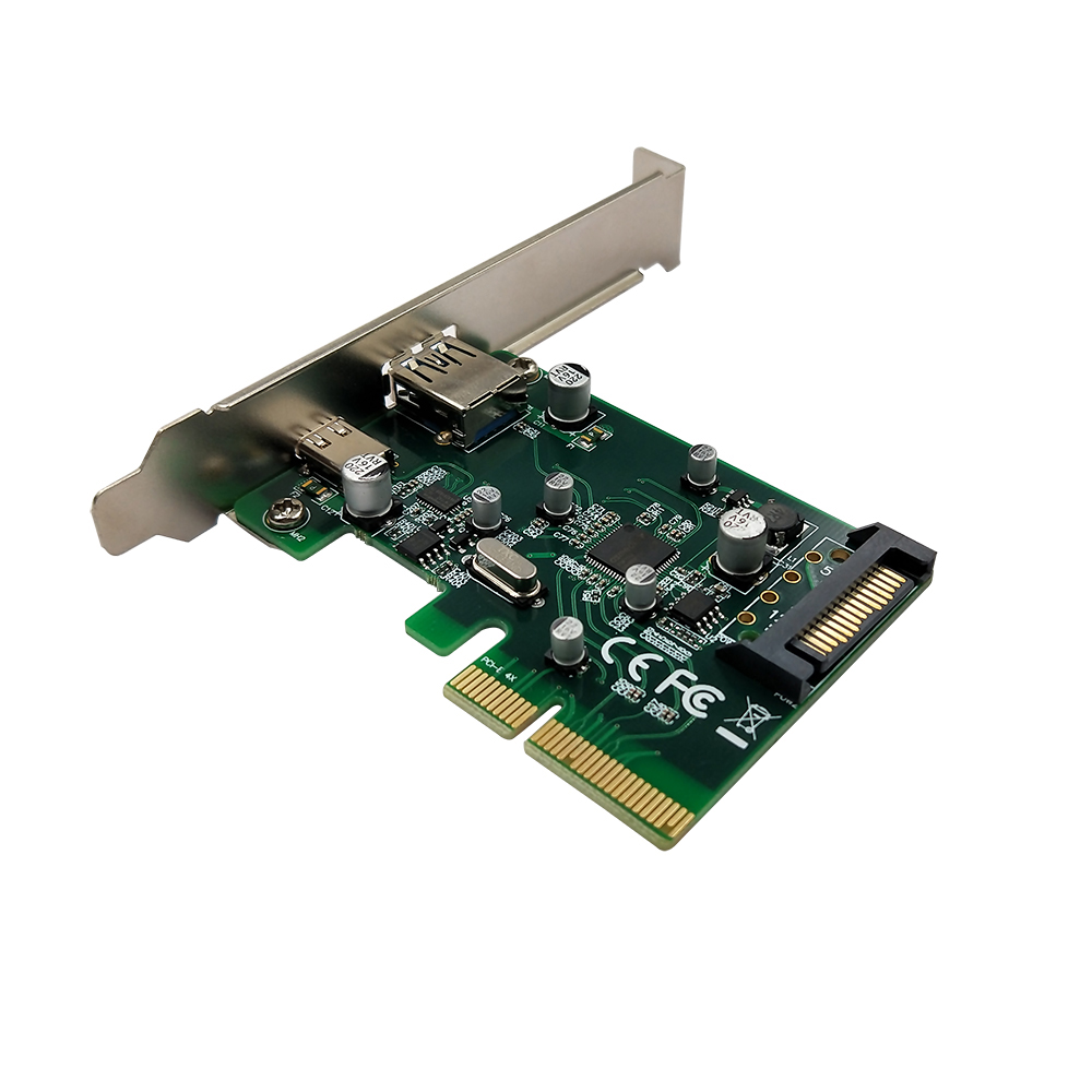 PCI-E to USB3.1(Type A + Type C)PCI Express Expansion Card USB3.1 Hub Controller Adapter 10Gbps Internal 15Pin Power Connector multi model pci e to usb 3 0 4 port pci express expansion card adapter pci e 15 pin power connector super speed up to 5gbps