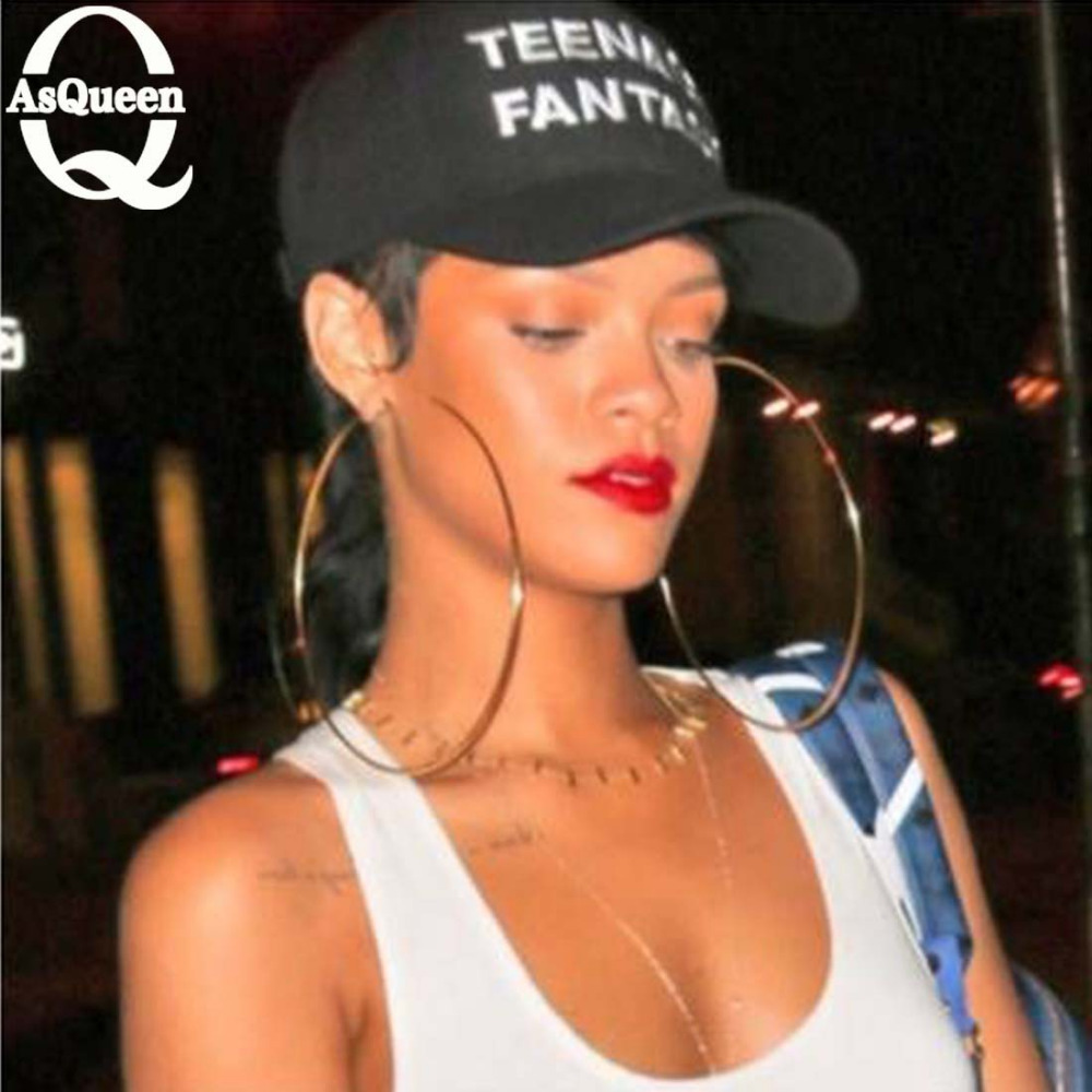 Super Sexy Oversized Gold/Silver Big Circle Earrings Geometric Earrings For Women Punk Statement Earrings