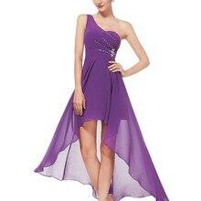 Платья для выпускного вечера Ever-Pretty EP08100 уникальные стразы на одно плечо Красные шифоновые вечерние платья для женщин платье для выпускного вечера
