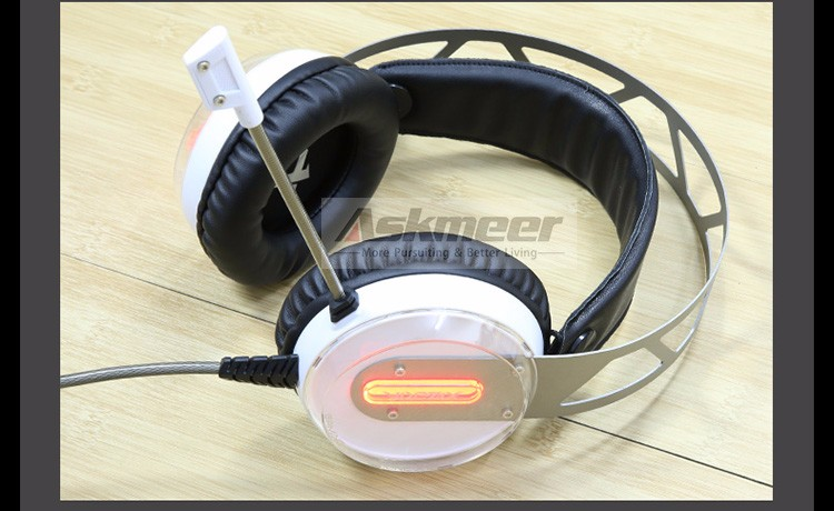 Xiberia X12 USB Gaming Headset Surround Sound Noise Canceling Luminous LED Light Over ear Headphones with Microphone for PC (10)