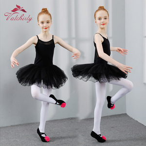 Image 5 - New Ballet Tutu Dress Girls Dance Clothing Kids Training Soft Skirt Costumes Gymnastics Leotards Wear