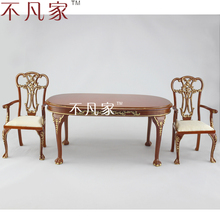 1/6scale BJD Furniture handcrafted Grand table and 2 chairs