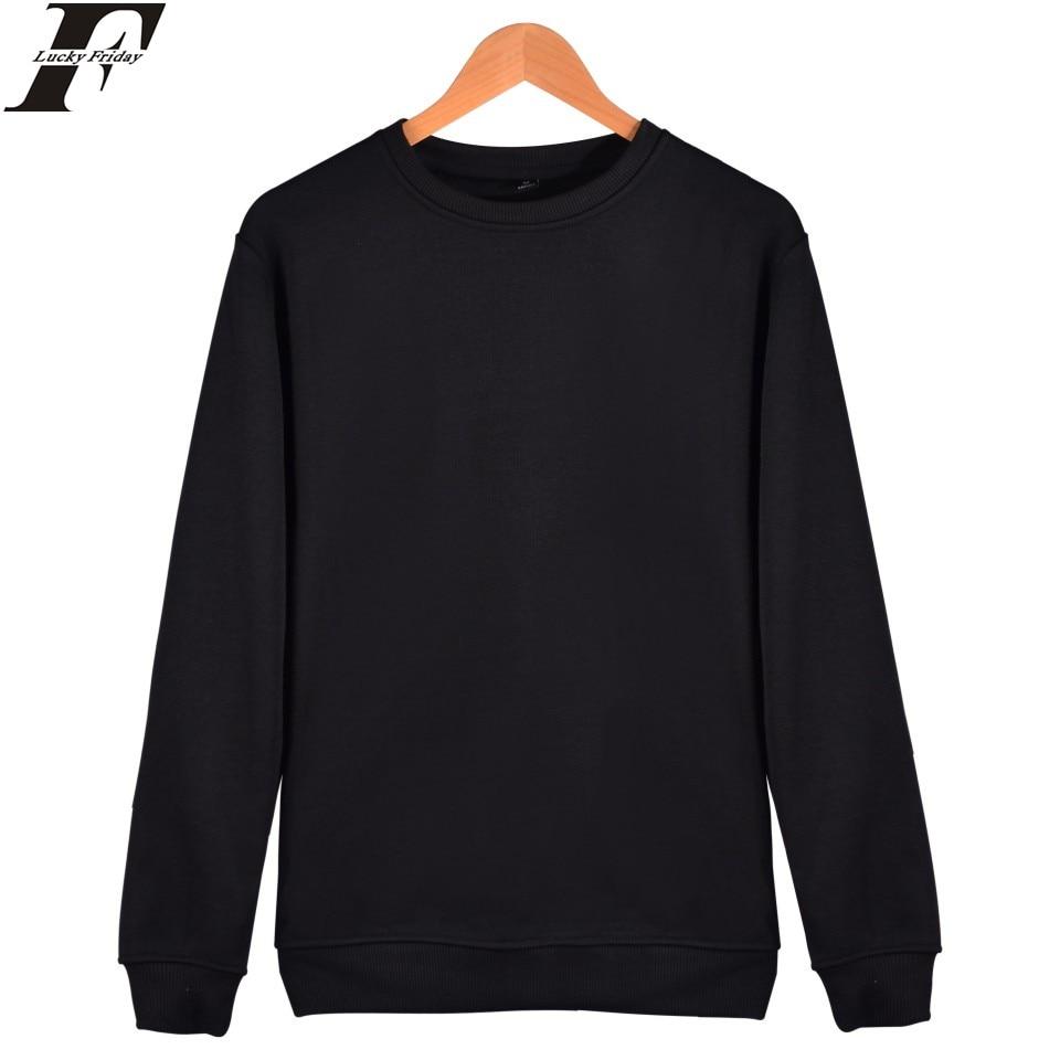 LUCKYFRIDAYF solid color hoodies Fashion Cotton Men women Long Sleeve Hip Hop Hoodies Street WearHarajuku Sweatshirt