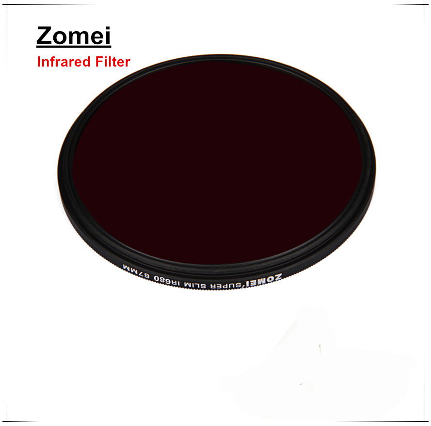 Professional Zomei 58mm Infrared Filter Through Filters Quality Glass For Canon 700D Sony Camera Lens