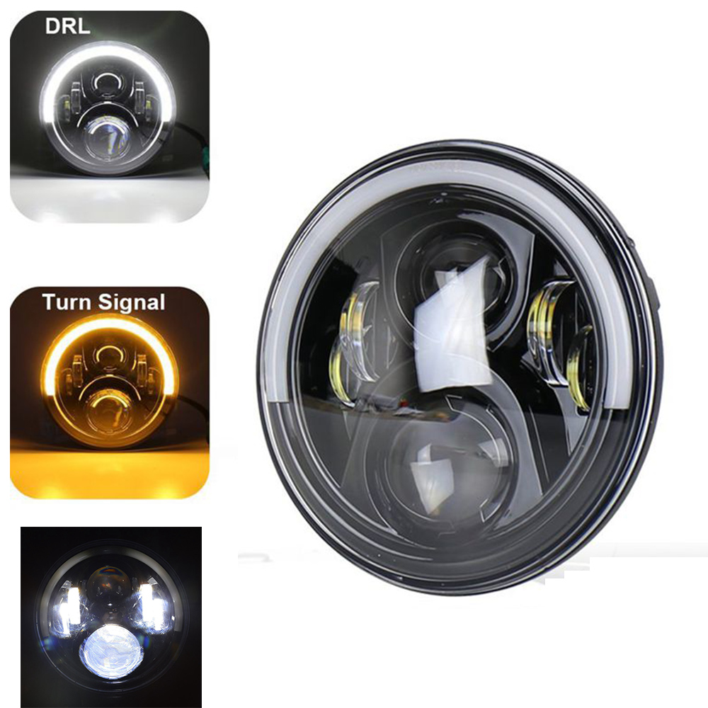 Marlaa 7 pouces phare LED pour Switchback Road King moto Touring Ultra classique Electra Street Glide