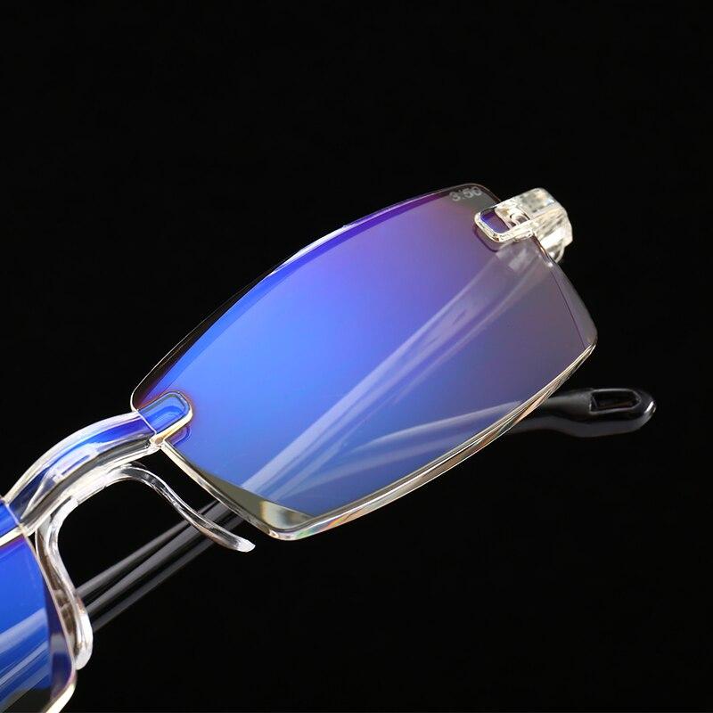 ce7fb28516f Женщины   s очки Fashionable Ultralight Rimless Reading Glasses Women Men  Clear Lens Anti-Blu-Ray Computer Glasses Presbyopia Reader Glasses