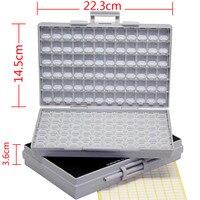 2 Empty Enclosures Surface Mount Resistor Capacitor Organizer 0805 0603 0402 Lid