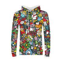 Hoodies Man 2018 Anime Chirsmas Deer Santa Claus Streetwear Hooded Sweatshirts 3D Printing Men Long Sleeve Hoody Jackets