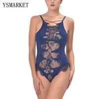 Yeni artı mavi lace up askı teddy sıcak tek parça seksi çapraz backless teddy lingerie çekici perspektif gazlı bez babydolls 80327